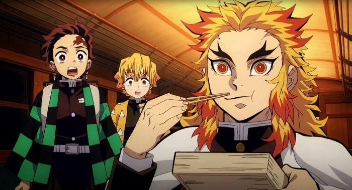 A scene from 'Demon Slayer: Kimetsu no Yaiba', which has made Japanese box office history