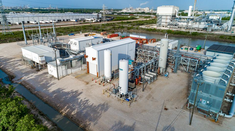 NET Power's prototype zero-emission natural gas power plant in LaPorte, Texas.
