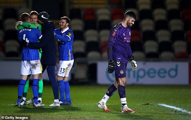 The Seagulls had to beat the League Two side on penalties following a nervy affair on Sunday