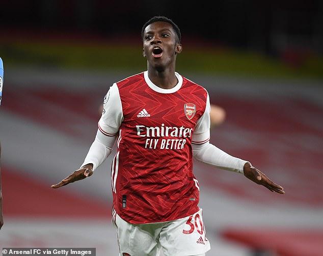 West Ham are targeting Arsenal striker Eddie Nketiah this month, according to reports