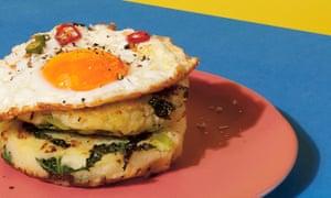 Ta-da! Turn mash into potato cakes topped with fried egg.