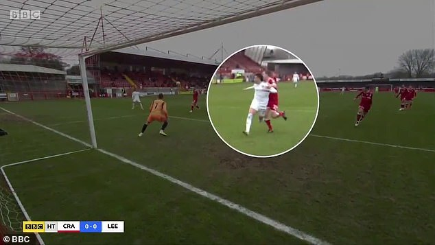 Leeds saw a penalty appeal in the first half turned down after Rodrigo was felled inside the box