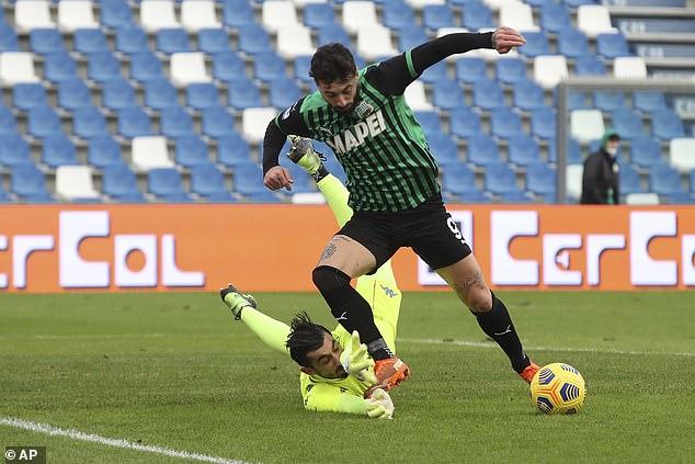 Francesco 'Ciccio' Caputo is the talisman and prime goalscorer for Roberto de Zerbi's side