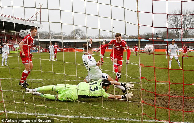 Jordan Tunnicliffe netted the final goal with Crawley downing their Premier League opponents