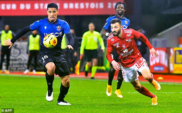 After returning to France, Saliba made his debut for Nice in their 2-0 defeat by Brest this week