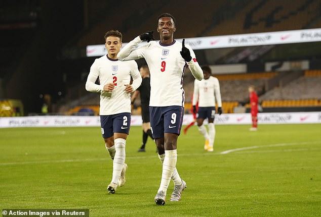 Nketiah also broke the England Under-21 goalscoring record - 14 goals - earlier this season