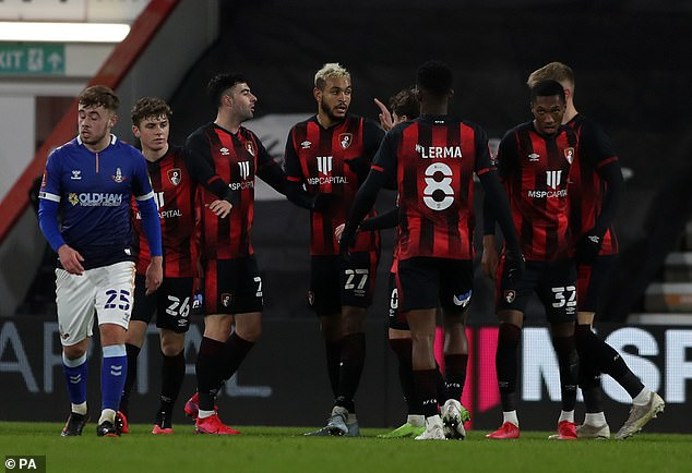Joshua King scored a brace as Bournemouth cruised into the fourth round against Oldham