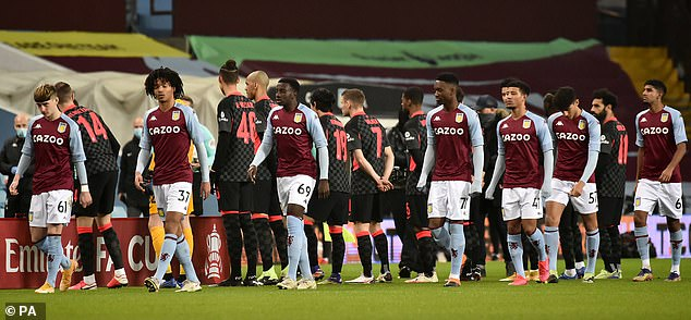 Villa fielded a young side as the whole first-team set up have been put in Covid-19 isolation