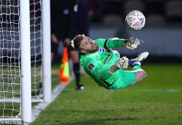 Brighton's Jason Steele made four excellent saves in the dramatic penalty shootout