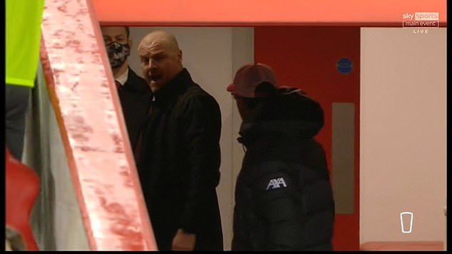 The pair continued their row in the tunnel before Dyche stormed to the away dressing room