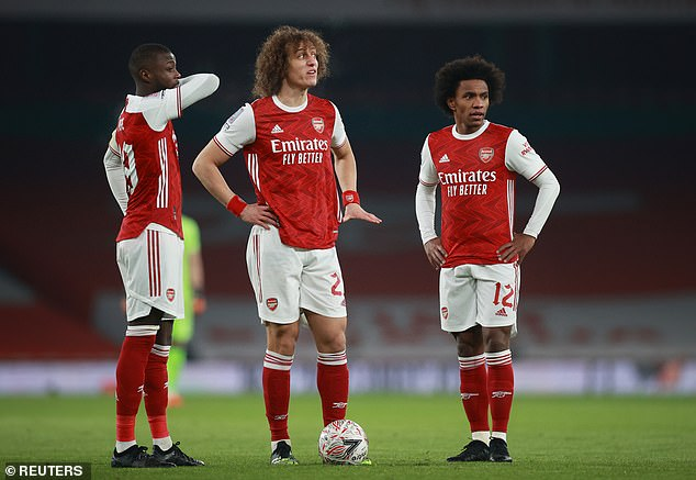 In particular he criticised Willian (right) and Nicolas Pepe (left) for not giving enough