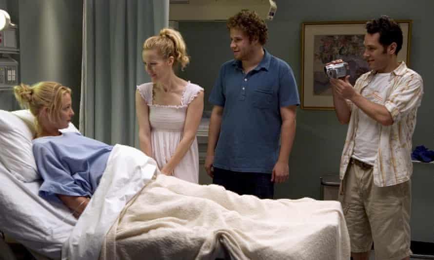 Knocked up, starring Katharine Heigl, Leslie Mann, Seth Rogen and Paul Rudd
