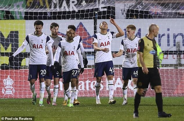 Wright's choice of headwear during Tottenham's win at Marine humoured social media users