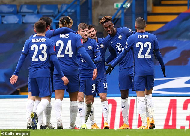 Abraham (second right) then doubled Chelsea's lead six minutes later to put them in control