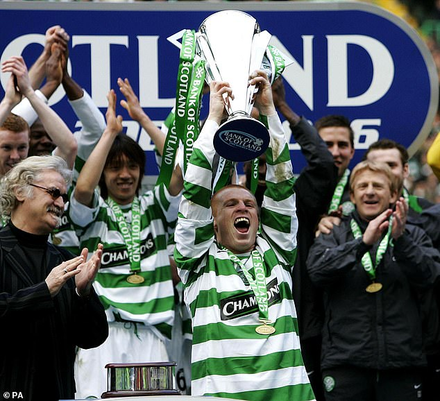 Lennon also won the league title five times as a player at Celtic Park between 2001 and 2007
