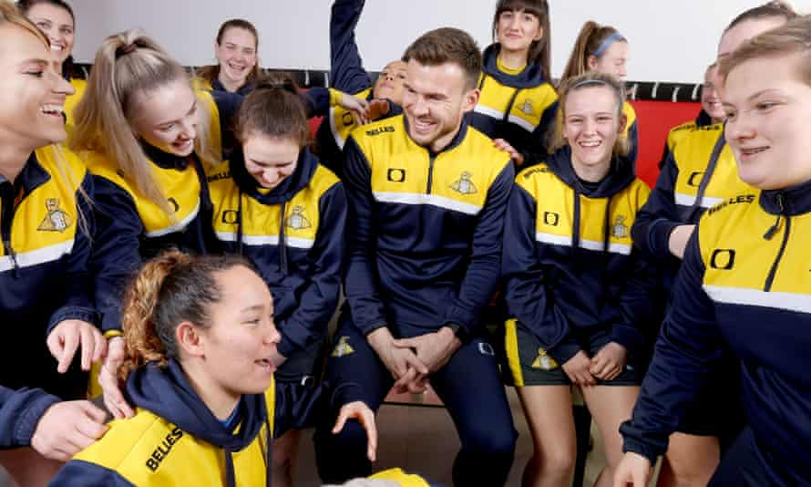 Andy Butler pictured with Doncaster Rovers Belles last January.