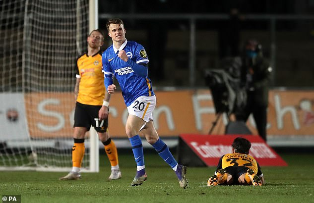 Brighton thought they'd won it with Solly March's strike in the 90th minute before more drama