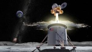 An artist's image of the Artemis lunar mission.