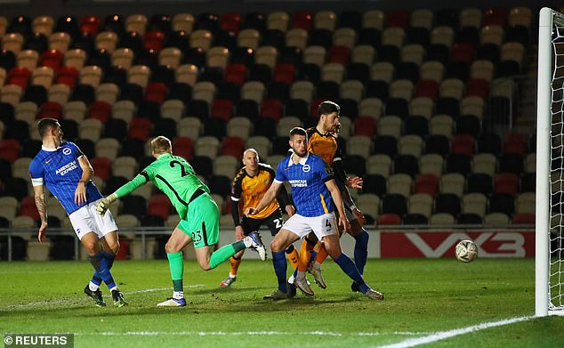 Steele had missed a punch in the final seconds of normal time to allow Newport to equalise