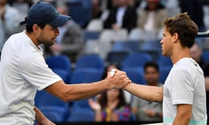 Aslan Karatsev has beaten Diego Schwartzman (right), Felix Auger-Aliassime and Grigor Dimitrov on his way to the semi-finals.
