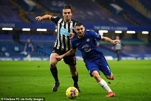 Mateo Kovacic starred in midfield as Chelsea eased to a 2-0 win over Newcastle on Monday