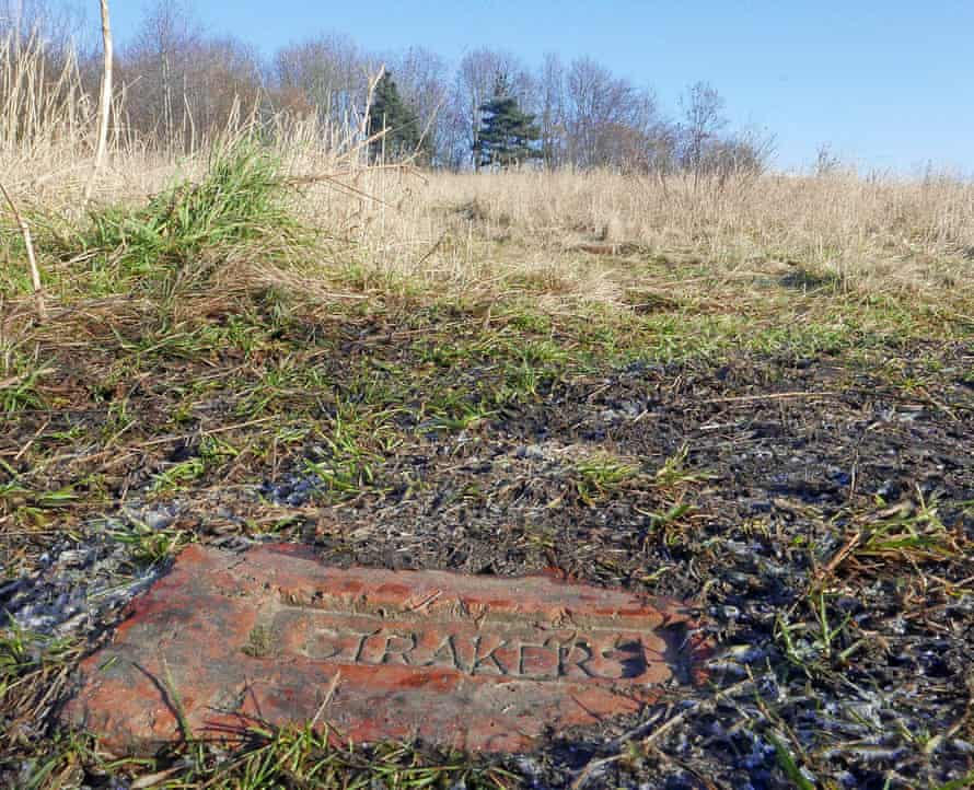 A name on a brick: last tangible sign of Joseph Straker's Brancepeth colliery.