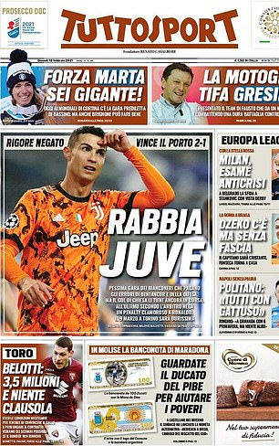 Tuttosport slammed the 'awful' performance