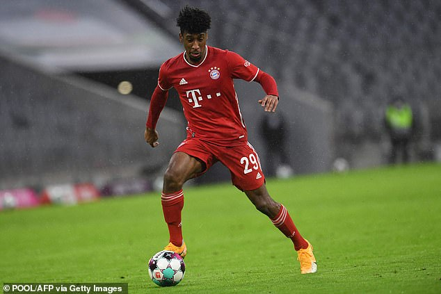 Bayern Munich 'are worried Kingsley Coman could be tempted away to Manchester United' this summer rather than commit to a new contract with them