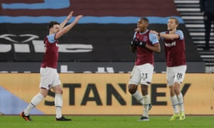 Issa Diop celebrates his goal during West Ham's comfortable win over Sheffield United