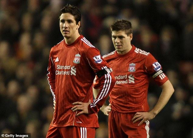 Steven Gerrard (right) admits he was 'heartbroken' when Fernando Torres (right) left Liverpool