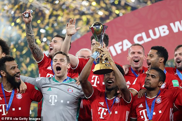 The France international lifts the FIFA Club World Cup after Bayern's victory over Tigres