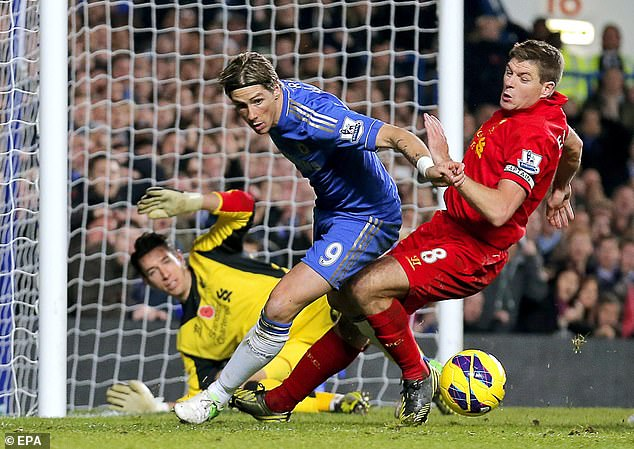 The Spaniard (middle) completed a £50million move to Chelsea in the 2011 January window