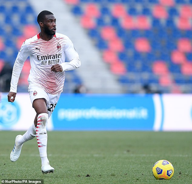Tomori is currently on loan at AC Milan from Chelsea for the rest of the season