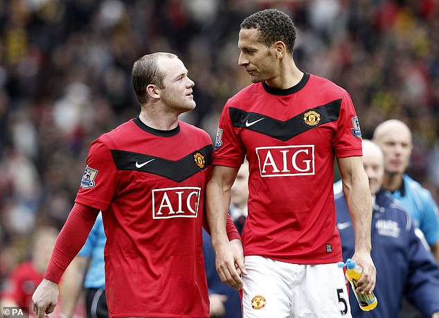 Morrison revealed he would take Rio Ferdinand (right) and Wayne Rooney's (left) boots to sell on for £250 a pair, just so he could put food on the table for his family