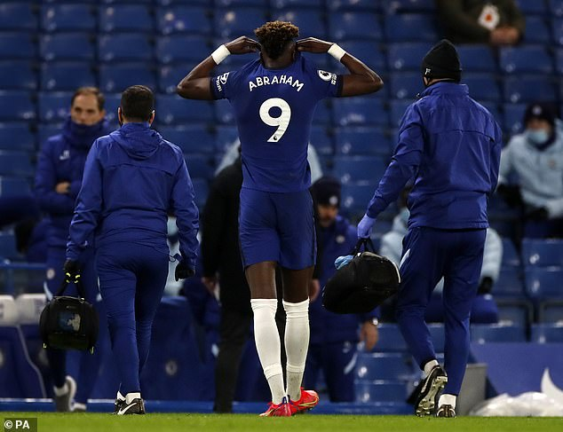 The Chelsea striker was forced off in the 20th minute after suffering an ankle injury