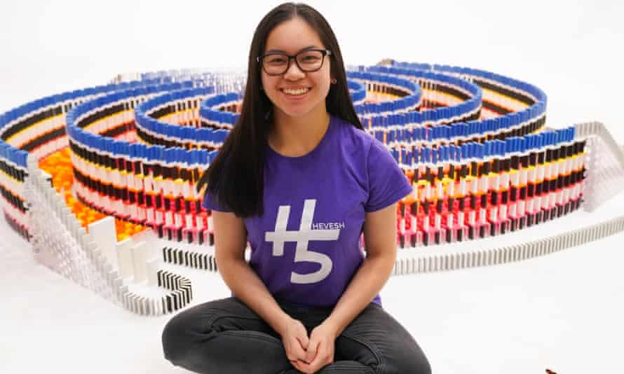 Lily Hevesh, a record-breaking domino artist.