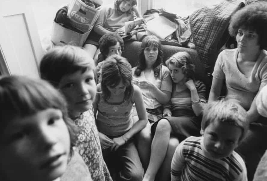 Mothers and children at a women's refuge in Chiswick, 1974.