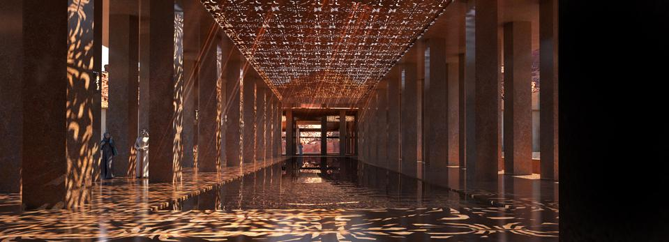 These concept renderings show the resort's luxurious embrace of AlUla's natural colours, light, shapes, and materials.