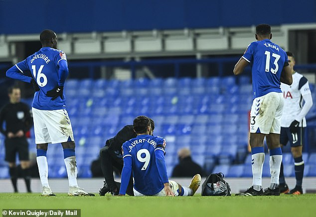 Calvert-Lewin has missed two games after picking up a hamstring injury against Tottenham