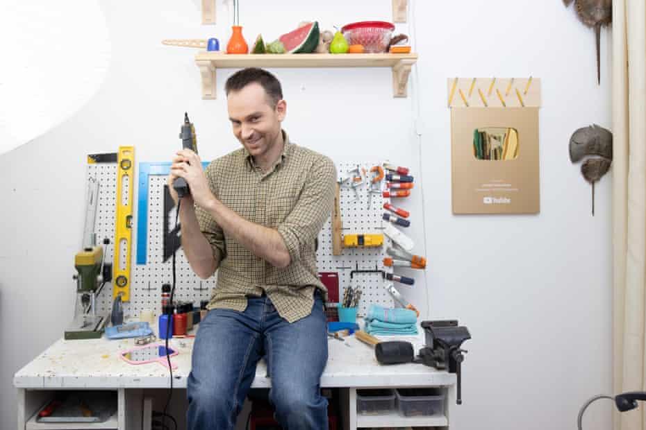 Herscher in his home workshop.