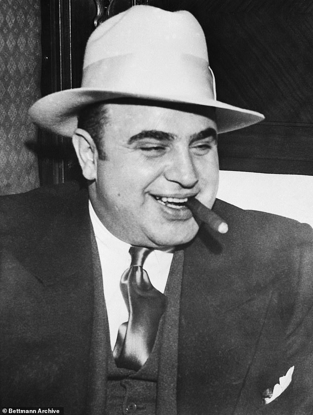 Archaeologists believe they've discovered the remains of a moonshine still belonging to Benjamin Villeponteaux, a notorious bootleggers for Al Capone (pictured) in the 1920s and '30s