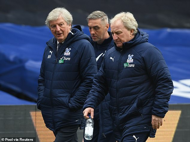 But Eagles boss Roy Hodgson (left) will have to reflect on another toothless display in attack