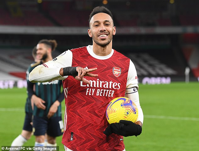 Aubameyang put three past Marcelo Bielsa's side at the Emirates to lift Arsenal into 10th