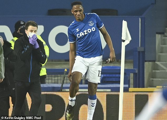 While Calvert-Lewin should play against Liverpool, defender Yerry Mina has been ruled out