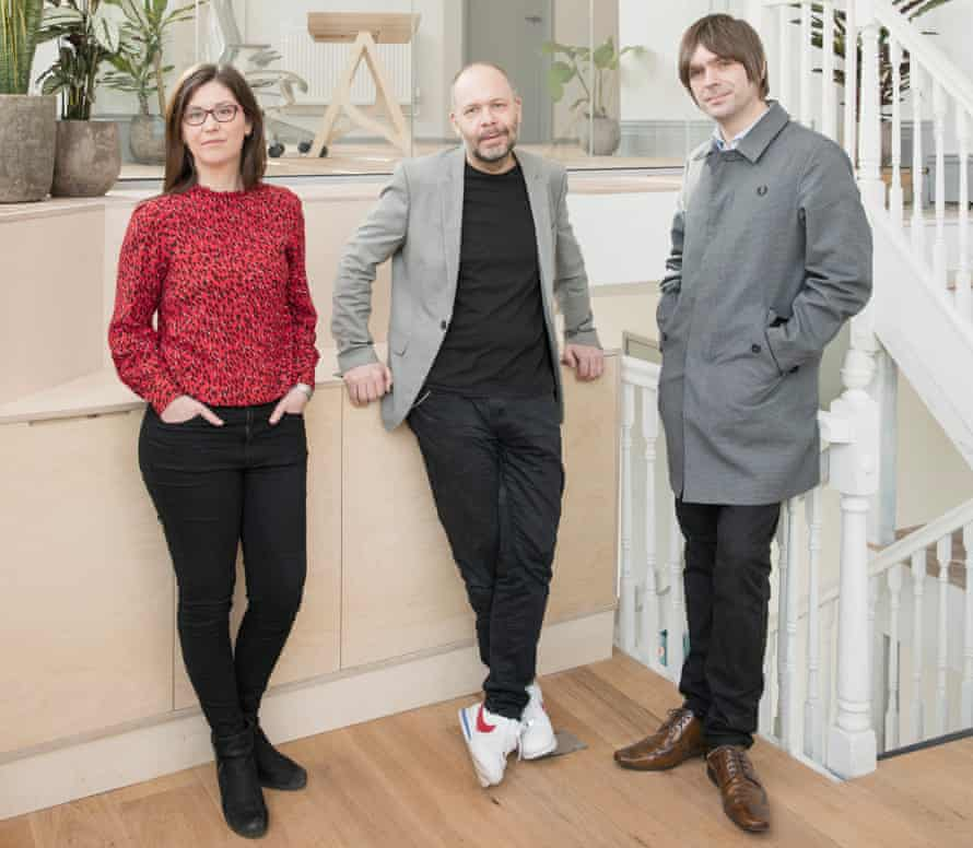 From left: Dr Laurie Higbed, Dr Ben Sessa and Steve O'Brien at Awakn in Bristol, the UK's first on-the-high-street provider of psychedelic-assisted psychotherapy, March 2021