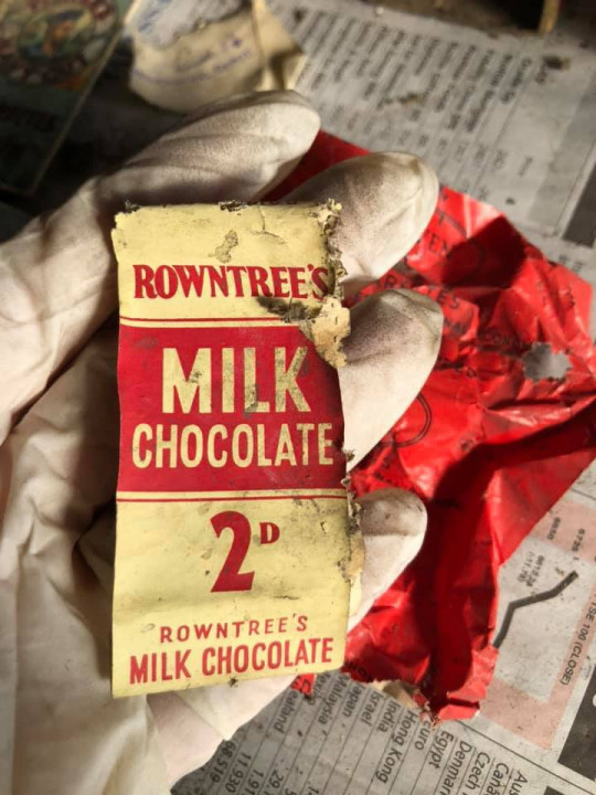 letters and chocolate wrappers found in floorboards