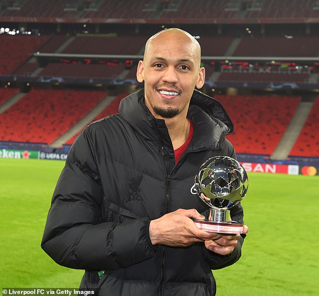 The Brazilian controlled the field for Liverpool and he left Budapest as the Man of the Match