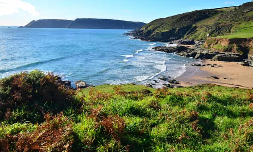 England, Devon, prawle point, rocks, cliffs, salcombe, cliffs, sea, Great Britain, Europe, coast, sand, beach, seashore