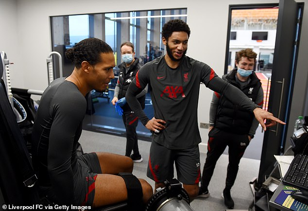 Van Dijk and Gomez are back in rehabilitation after picking up autumn injuries