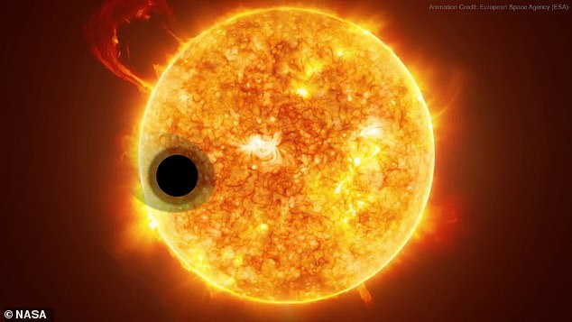 As the second atmosphere comes up from the surface of the planet it provides astronomers with a 'window into the geology of another world,' said Rimmer